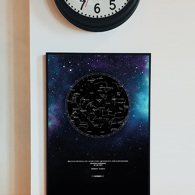 tvehvezdycz hvězdná mapa plakát dárek ke stěhování